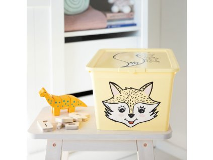 Dětský box s víkem X Box Deco Fox Animal 30 l BRANQ