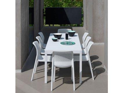 Rozkládací zahradní stůl Rio Bianco 100 x 140 / 210 x 76 cm NARDI