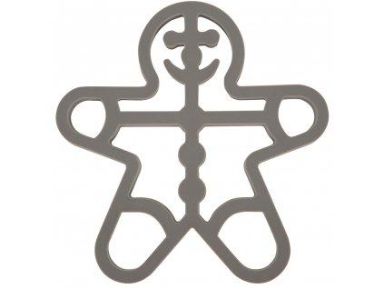 Silikonová podložka pod hrnec Cookie Man Gray 18 x 17 cm