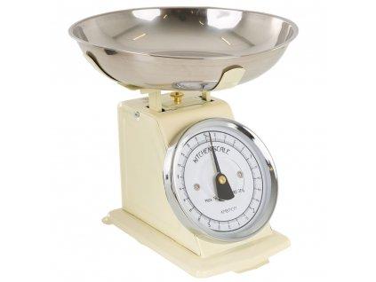 Kuchyňská váha Cream s černou ručičkou 5 kg AMBITION