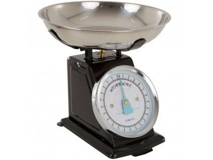 Kuchyňská váha Black s modrou ručičkou 5 kg AMBITION