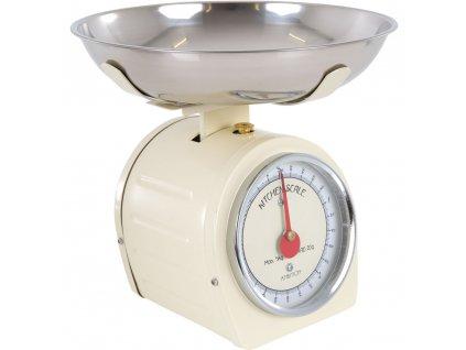 Kuchyňská váha Cream s červenou ručičkou 5 kg AMBITION