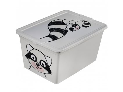 Dětský box s víkem X Box Deco Racoon Animal 15 l BRANQ