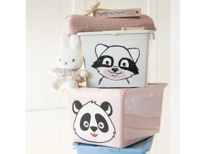 Dětský box s víkem X Box Deco Panda Animal 30 l BRANQ