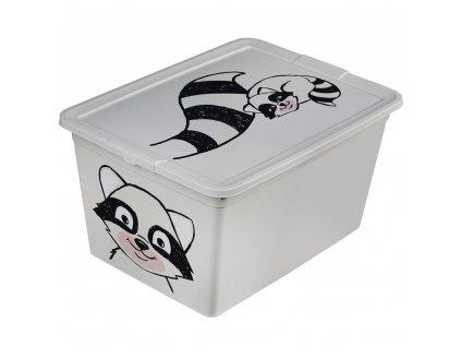 Dětský box s víkem X Box Deco Racoon Animal 30 l BRANQ