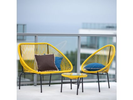 Zahradní stolek Arthur Yellow 50 cm PATIO
