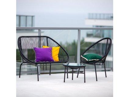 Zahradní stolek Arthur Antracit 50 cm PATIO