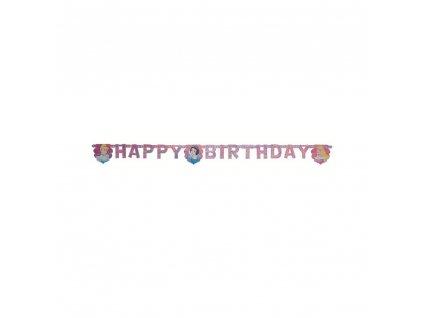 Párty banner Magical princess Happy Birthday DISNEY