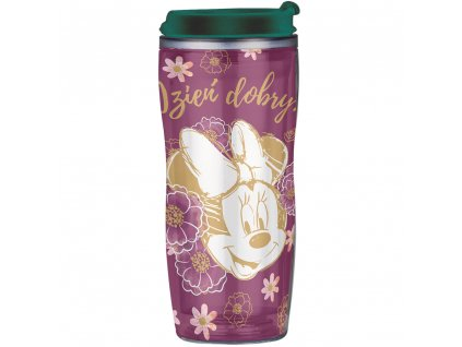 Hrnek / láhev s výměnnou grafikou Minnie Flowers Purple 400 ml DISNEY