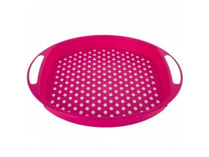 Plastový tác s úchyty Pink 40 x 4,5 cm