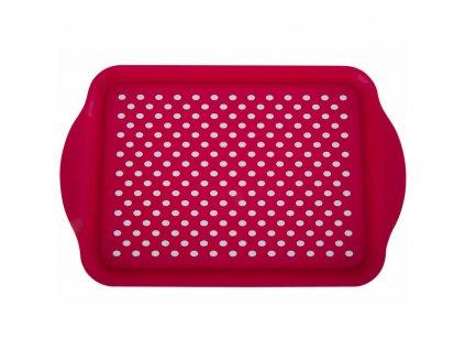 Plastový tác s úchyty Red 40,2 x 27 x 3 cm
