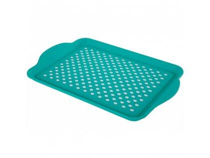 Plastový tác s úchyty Green 40,2 x 27 x 3 cm