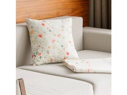 Sada 2 povlaků na polštář z polyesteru Pastel Flowers 42 x 42 cm AMBITION