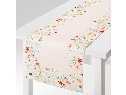 Dekorační běhoun / štola z polyesteru Pastel Flowers 40 x 150 cm AMBITION