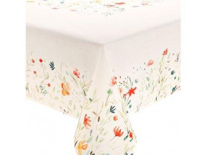 Dekorační ubrus z polyesteru Pastel Flowers 160 x 280 cm AMBITION