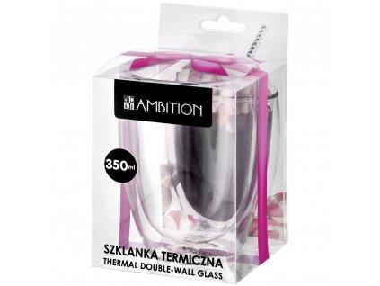 Termosklenička Mia Gift Box 350 ml AMBITION