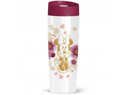 Termohrnek Minnie Flowers Gold 400 ml DISNEY PL NÁPISY