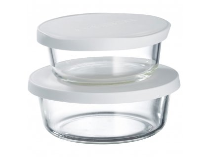 Sada 2 žáruvzdorných nádobek Frisk White 600 + 900 ml AMBITION