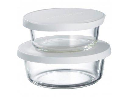 Set 2 žáruvzdorných nádobek Frisk White 600 + 900 ml AMBITION
