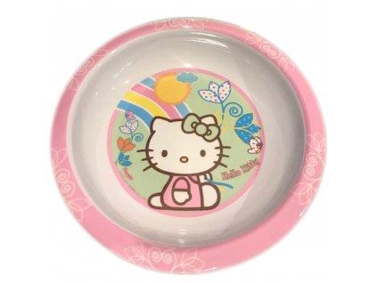 Melaminový hluboký talíř Hello Kitty Flowers 19,5 cm DISNEY