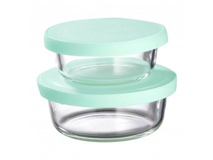 Sada 2 žáruvzdorných nádobek Frisk Mint 300 + 600 ml AMBITION