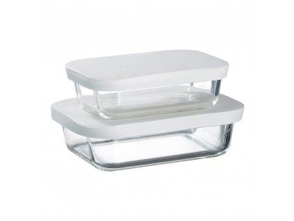 Sada 2 žáruvzdorných nádobek Frisk White 550 + 900 ml AMBITION