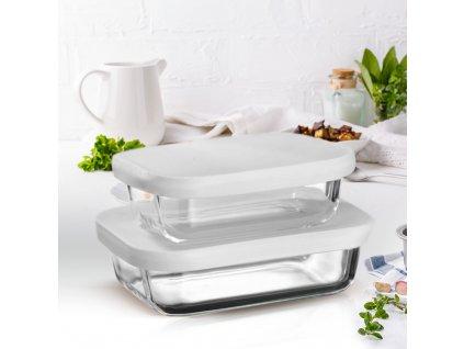 Set 2 žáruvzdorných nádobek Frisk White 550 + 900 ml AMBITION