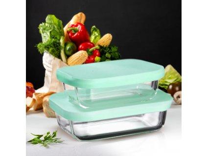 Sada 2 žáruvzdorných nádobek Frisk Mint 300 + 550 ml AMBITION
