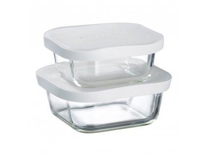 Set 2 žáruvzdorných nádobek Frisk White 450 + 750 ml AMBITION