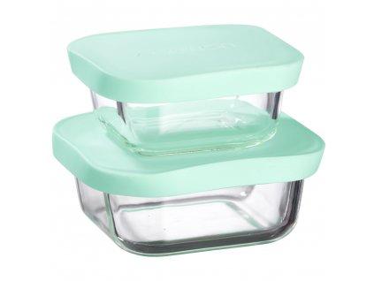 Sada 2 žáruvzdorných nádobek Frisk Mint 300 + 450 ml AMBITION