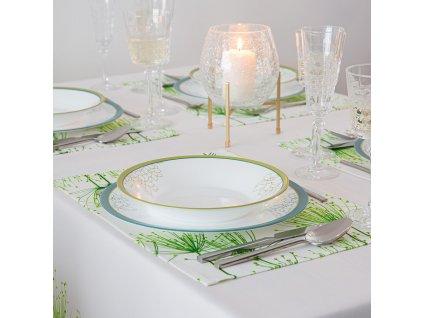 Sada 2 podložek na stůl z polyesteru Green Garden 30 x 40 cm AMBITION