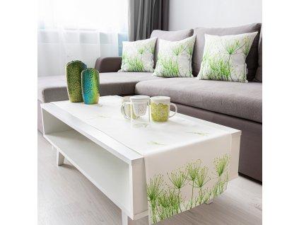 Dekorační běhoun / štola z polyesteru Green Garden 40 x 150 cm AMBITION