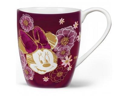 Porcelánový hrnek Minnie Flowers Purple 400 ml DISNEY PL NÁPISY
