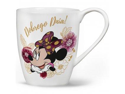 Porcelánový hrnek Minnie Flowers White 400 ml DISNEY PL NÁPISY