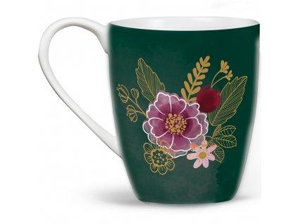 Porcelánový hrnek Minnie Flowers Green 400 ml DISNEY PL NÁPISY