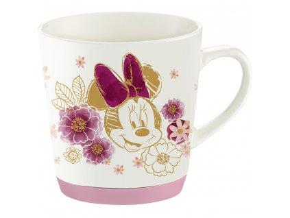 Porcelánový hrnek se silikonem Minnie Flowers White 320 ml DISNEY PL NÁPISY