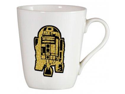 Porcelánový hrnek R2-D2 Droid Brokat Gold 400 ml STAR WARS