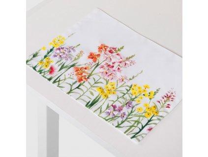 Sada 2 podložek na stůl z polyesteru Juicy Flowers 30 x 40 cm AMBITION