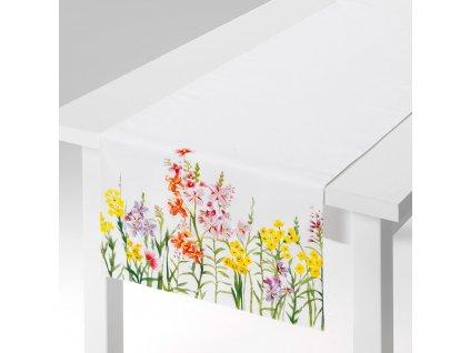 Dekorační běhoun / štola z polyesteru Juicy Flowers 40 x 150 cm AMBITION