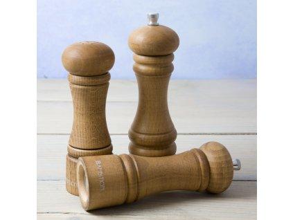 Dřevěný mlýnek na pepř a sůl Chess Maroon 15 cm AMBITION