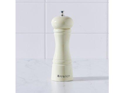 Dřevěný mlýnek na pepř a sůl Chess Ecru 15 cm AMBITION