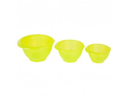 Sada 3 plastových, kuchyňských misek Cindy Green 1 / 2 / 3 l DOMOTTI