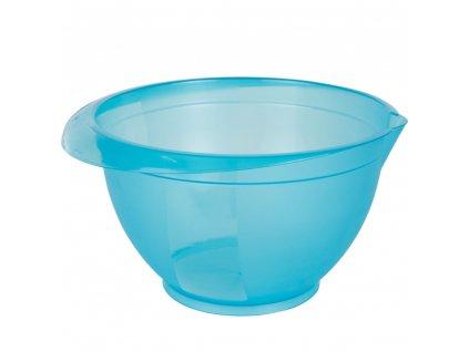 Sada 3 plastových, kuchyňských misek Cindy Turquoise 1 / 2 / 3 l DOMOTTI