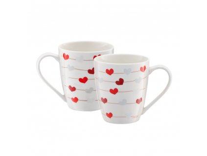 Porcelánový hrnek Love Hearts 370 ml AMBITION