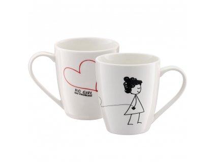 Porcelánový hrnek Love No Girl No Problem 370 ml AMBITION