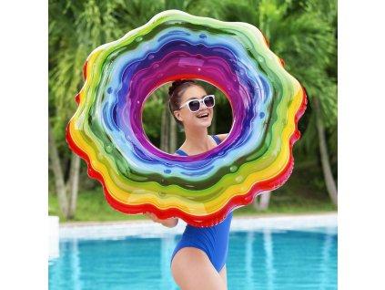 Nafukovací kruh Rainbow 115 cm BESTWAY