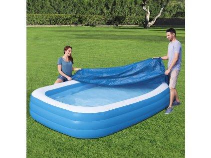 Kryt na bazén Deluxe Blue Rectangular 305 x 183  x 56 cm BESTWAY