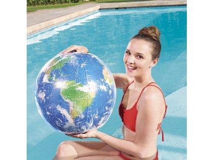Nafukovací plážový míč Glowball Earth Explorer 61 cm BESTWAY