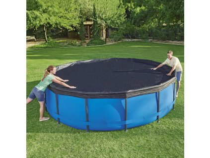 Kryt na kulatý nadzemní bazén 457 cm BESTWAY