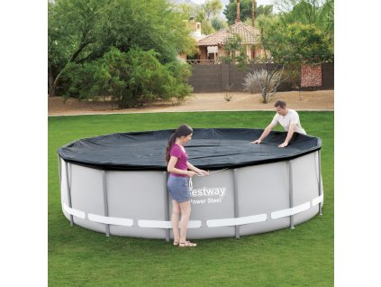Kryt na kulatý nadzemní bazén 427 cm BESTWAY